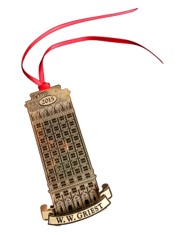 """To help underwrite the cost, we initiated a unique fundraiser – Lancaster Landmark Ornaments. Created exclusively for LEADS,"" said board president Marty Hulse. The three-dimensional ornaments are renditions of structures that have played a meaningful role in Lancaster's historic and cultural life, crafted of solid brass plated in 24-karat gold, he said."